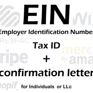 Get your EIN number from the IRS
